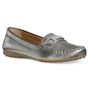 Coach Fredrica pewter slip on loafers. NWT 6B